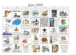 June 09 Activity Calendar