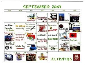 vancouver calendar