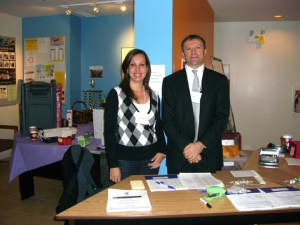 Michael Galli, President of BC TEAL and a helpful volunteer at VanWest College last Saturday.