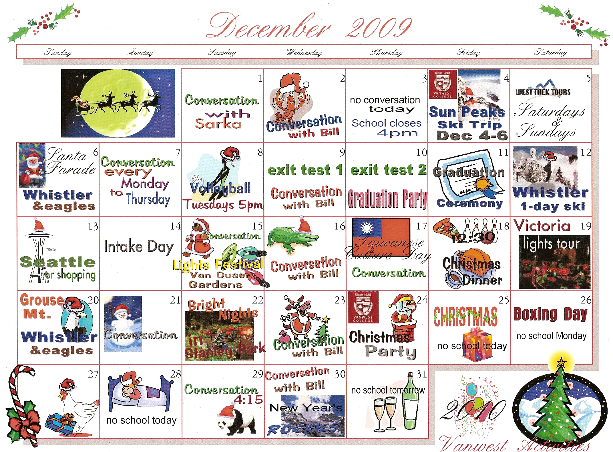 Activity vanwest college blog page 4 for Activities to do on christmas day at home